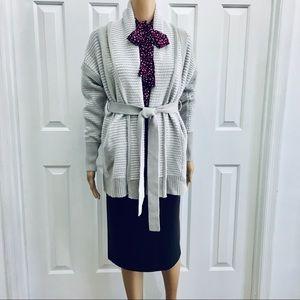 Vera Vang Front Tie long  sweater S